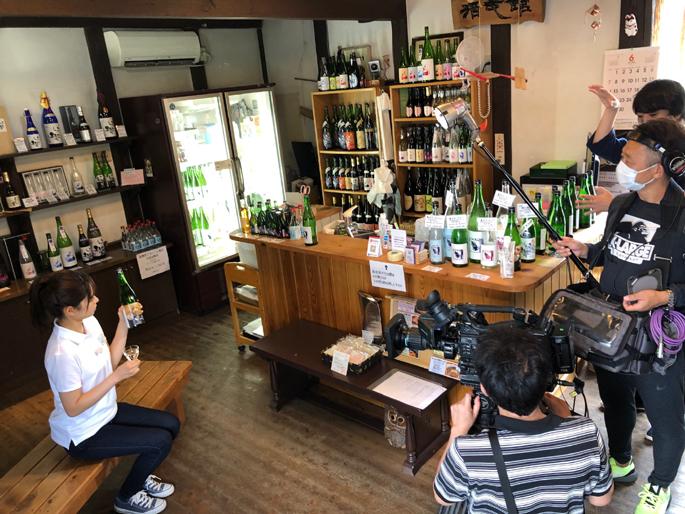 泉橋酒造の新しい取組の「甘酒」やファシリティドッグ応援酒」などが紹介されます